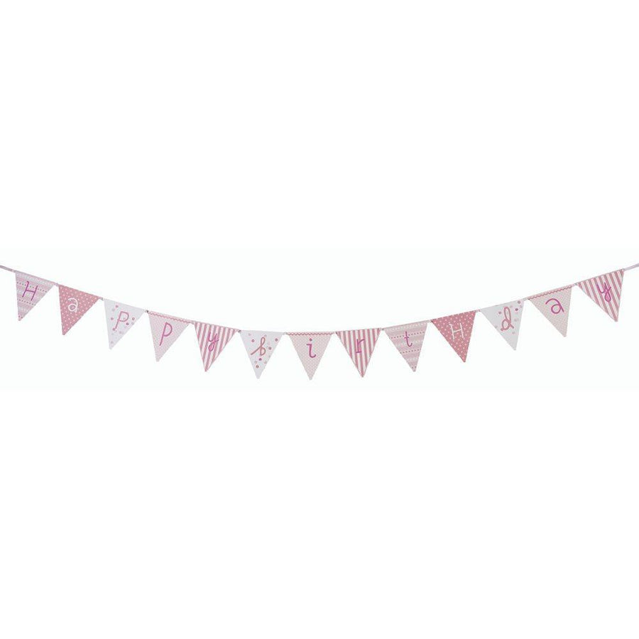 Pink n Mix Happy Birthday Bunting - Bickiboo Designs