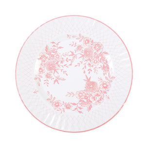 Party Porcelain Rose Large Plates- 8pk