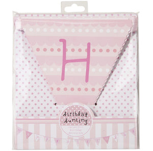 Pink n Mix Happy Birthday Bunting - Bickiboo Party Supplies