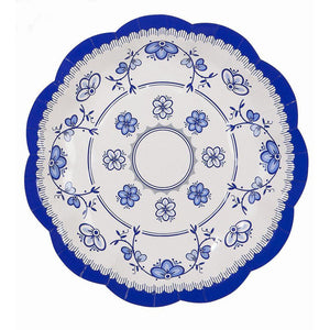 Party Porcelain Blue Vintage Tea Party Small Plates - Bickiboo Designs