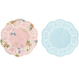 Frills & Frosting Mini Doilies (100 Pack) - Bickiboo Party Supplies