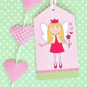 Fairy Garden Party Tag - Bickiboo Party Supplies