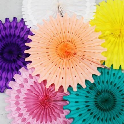 Honeycomb Paper Fans - Bickiboo Party Supplies