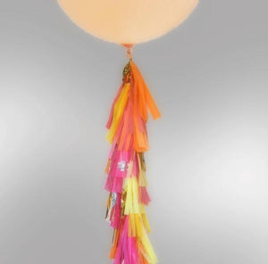 Balloon Tassel Garland - Pink Apricot Sparkle - Bickiboo Party Supplies