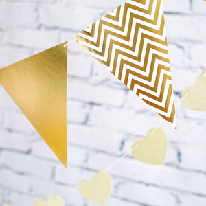 Gold Spots, Stripes & Chevron Party Buntings - Bickiboo Designs
