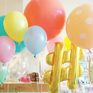 Hashtag Giant Gold Foil Balloon 86cm - Bickiboo Designs