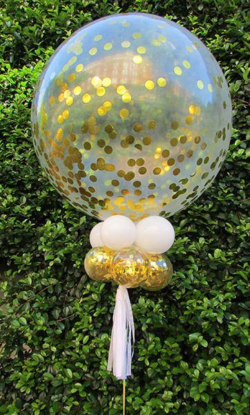 Giant 90cm Gold Confetti Balloon