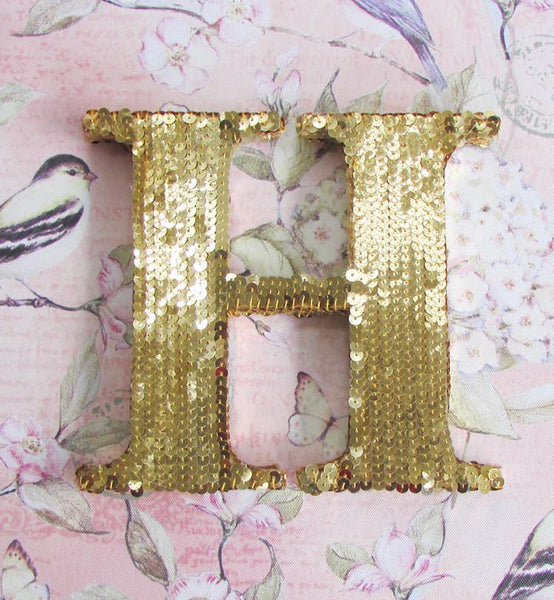 sequin letters gold