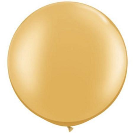 Giant Gold Metallic Balloon - 90cm - Bickiboo Party Supplies