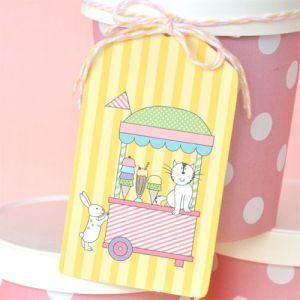 Ice Cream Gift Tag - Bickiboo Party Supplies