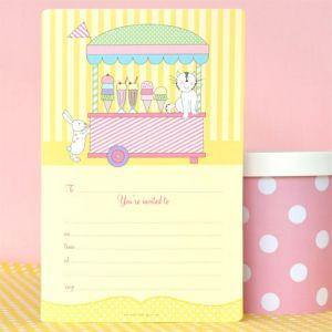Ice Cream Party Invitation - Bickiboo Party Supplies