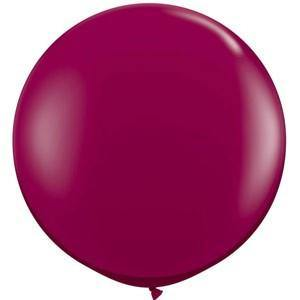 Giant Jewel Sparkling Burgundy Balloon - 90cm