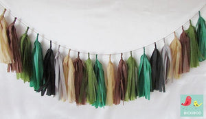 Tissue Paper Tassel Garland - Jungle Party - Bickiboo Designs