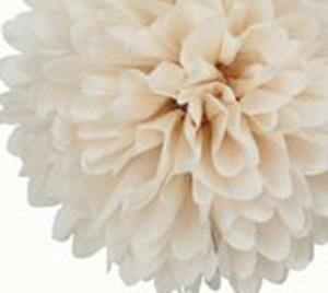 Khaki Tissue Paper Pom Poms - Bickiboo Party Supplies