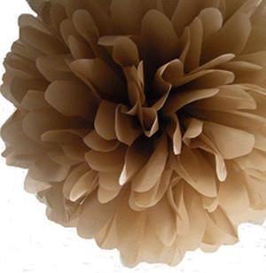 Kraft Tissue Paper Pom Poms - Bickiboo Party Supplies