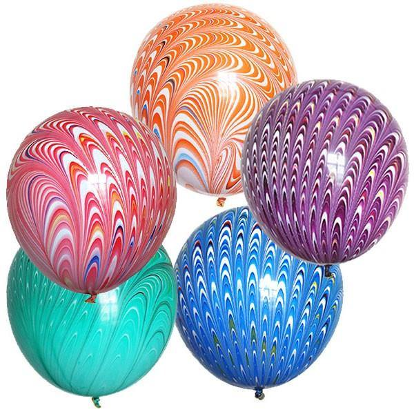 Peacock 45cm Round Balloon - Bickiboo Designs