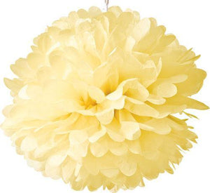 Lemonade Yellow Tissue Paper Pom Poms - Bickiboo Designs