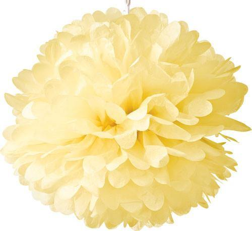 Lemonade Yellow Tissue Paper Pom Poms - Bickiboo Party Supplies