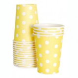 Lemoncello polka dot paper party cup - Bickiboo Party Supplies
