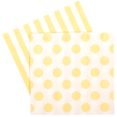 Lemoncello Yellow Napkins - Bickiboo Designs