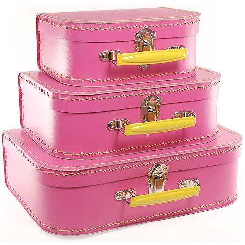 Hot Pink Euro Suitcases - Bickiboo Designs
