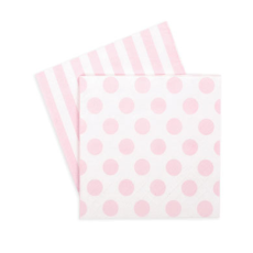 Marshmallow Pink Napkins - Bickiboo Party Supplies