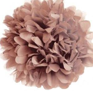 Mocha Tissue Paper Pom Poms - Bickiboo Party Supplies