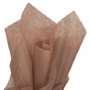 Mocha Tissue Paper - Bickiboo Party Supplies