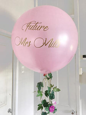 Personalised Giant 90cm Balloon - Bickiboo Designs
