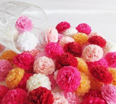 Custom Order Button Mums Tissue Paper Flowers - Bickiboo Party Supplies