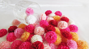 Boysenberry Pink Button Mums Tissue Paper Flowers - Bickiboo Party Supplies