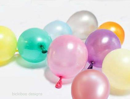 Tiny Rose Gold Pastel Mix Balloons - 12cm (24 pack)