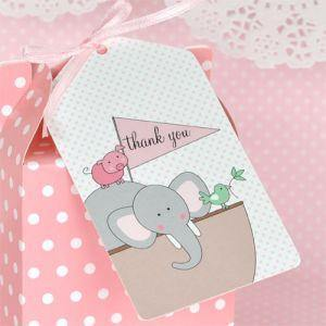 Noahs Ark Pink Gift Tag