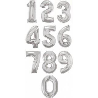Giant Silver Foil Number Balloon 86cm - Bickiboo Party Supplies