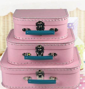 Orchid Pink Paper Suitcases - Bickiboo Party Supplies