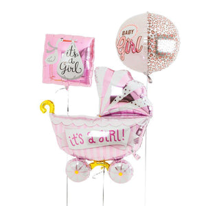 Pink - Baby Shower Balloons Trio - Bickiboo Designs