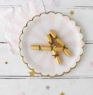 Gold Mini 'Saucy' Saucer Crackers - Bickiboo Designs
