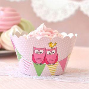Owl Pink Party Cup - Bickiboo Designs