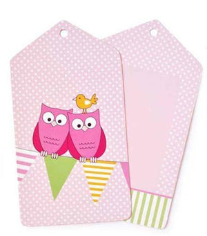 Pink Owl Gift Tag - Bickiboo Designs