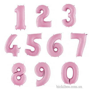 Giant Pastel Pink Foil Number Balloon 100cm