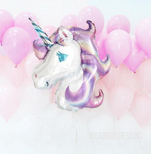 Pastel Unicorn Foil Balloon - Bickiboo Designs