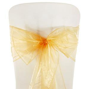 Peach Organza Chair Sashes (pack of 5) - Bickiboo Party Supplies