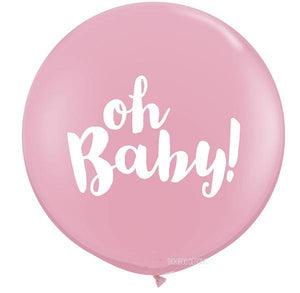 Oh Baby Giant Pink Balloon - 90cm - Bickiboo Designs