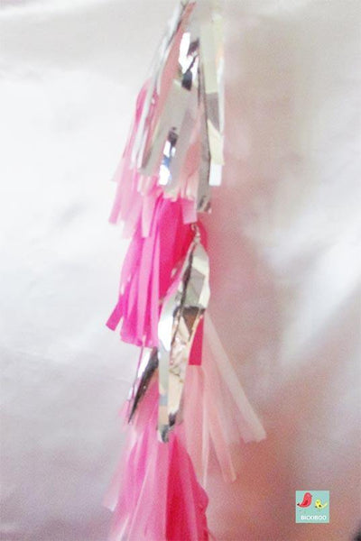 Balloon Tassel Garland - Shades of Pink - Bickiboo Party Supplies
