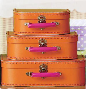 Orange Euro Suitcases - Bickiboo Designs