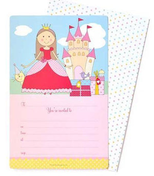 Pretty Princess Invitation - Bickiboo Party Supplies