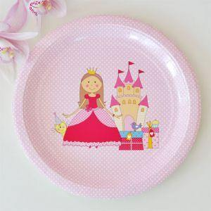 Princesss Large Round Party Plate - Bickiboo Party Supplies