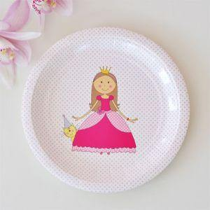 Princesss Large Round Party Plate - Bickiboo Designs