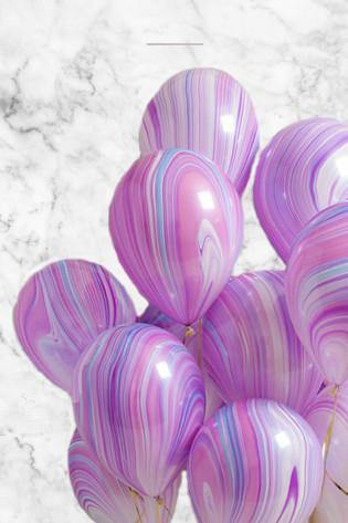 Purple Marble Party Balloons Bouquet