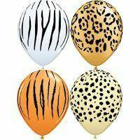 Safari 28cm Balloons (4 pack) - Bickiboo Party Supplies